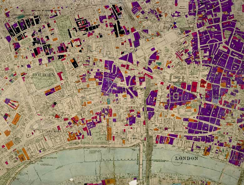 London Bomb Damage Map